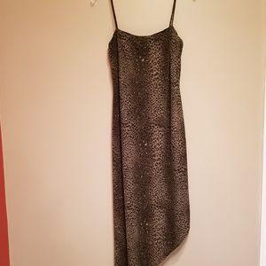 Arianna asymmetrical leopard print dress
